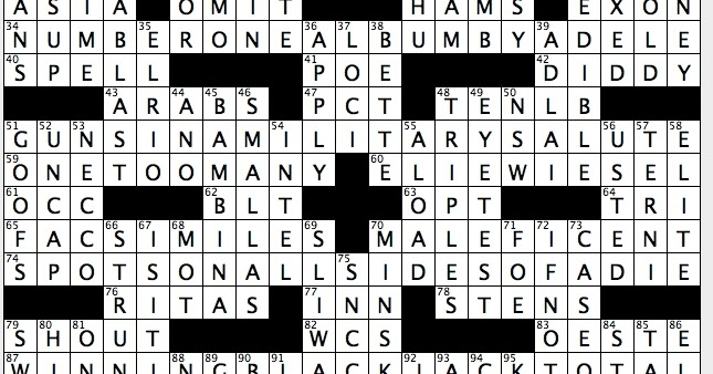 Rex Parker Does The Nyt Crossword Puzzle Guardian Angel Curtis Sun 5 27 18 Bygone Cambodian Leader With Palindromic Name Query From Judas Shape Of Every Baha I Temple Alias