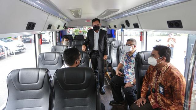 Bogor Kedatangan Bus Listrik China, Penumpang Naik Gratis Sebulan