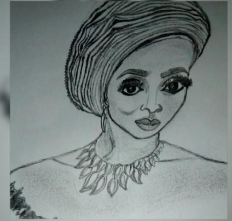 Checkout this pencil artwork of Toke Makinwa