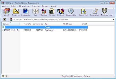 imagen reset stylus tx235w