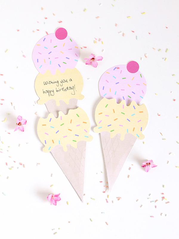 Днем, открытка мороженое своими руками