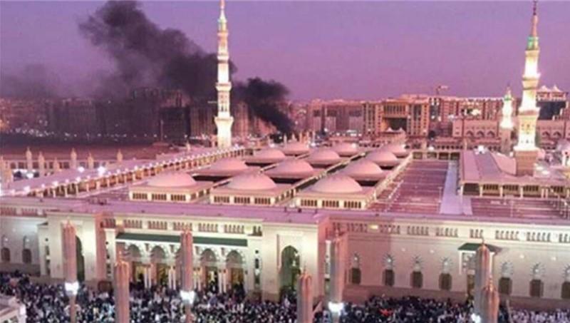 Penampakan bom meledak dekat Masjid Nabawi, Madinah, Arab Saudi