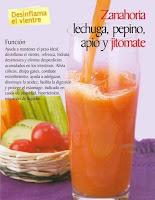 Jugos saludables zanahoria lechuga pepino apio y jitomate