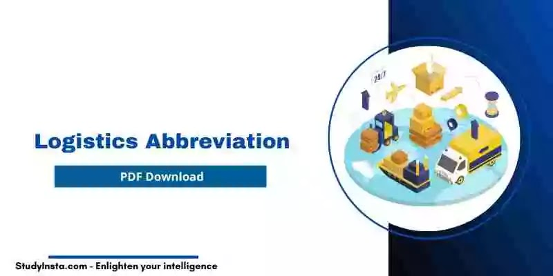List of Logistics Abbreviation [PDF Download]