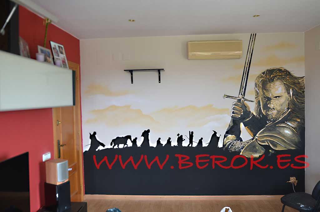 Berok graffiti mural profesional en barcelona dibujos en for Mural para habitacion