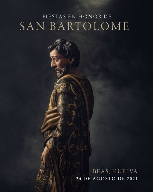 Cartel de Fiestas de San Bartolomé 2021. Beas (Huelva)