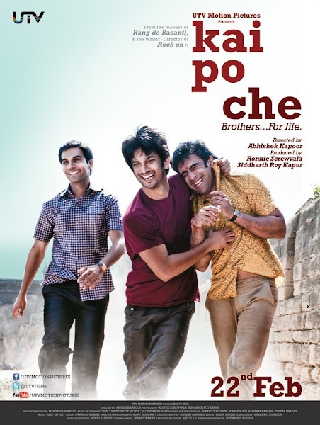 Poster Of Kai Po Che 2013 720p Hindi BRRip Full Movie Download
