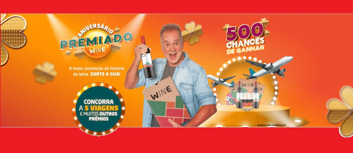 Promoção Aniversário 2021 Wine Vinhos Cadastrar - Viagens e Prêmios