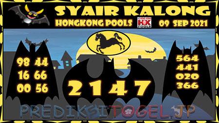 Syair Kalong HK Malam ini 09 September 2021