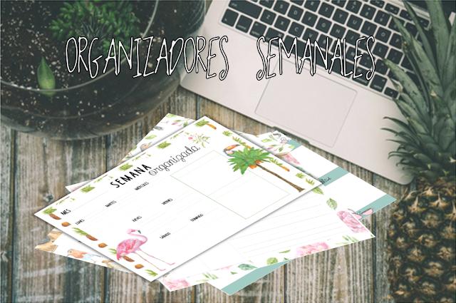 imprimibles, printables, organizadores, semanales, A4, gratis, free, descargar, planning