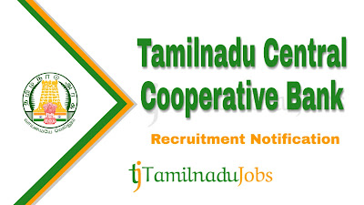Tamilnadu Central Cooperative Bank recruitment notification 2019, govt jobs in tamilnadu, tn govt jobs, govt jobs for graduate