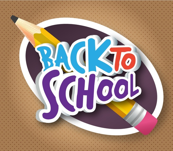 Back to school banner design with pencil Free vector