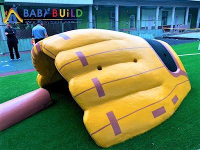 棒球手套土堤式鑽爬遊具