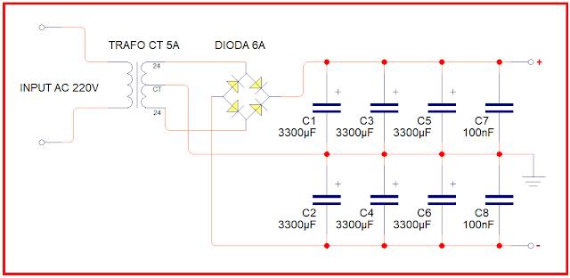 Power Supply untuk amplifier