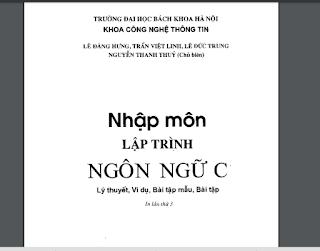 Tài liệu nhập môn lập trình C trường ĐH Bách Khoa HN AnonyHome