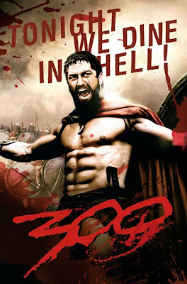 Poster Of 300 2006 In Dual Audio Hindi English 300MB Compressed Small Size Pc Movie Free Download Only At worldfree4u.com