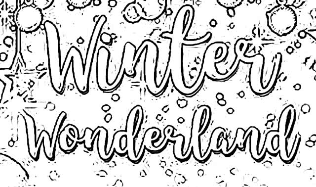 Winter Wonderland Coloring Pages holiday.filminspector.com