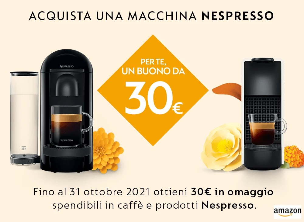 Offerta macchina caffe Nespresso