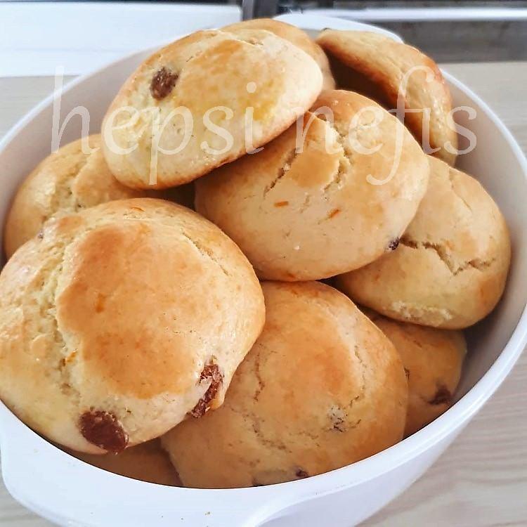 üzümlü şam kurabiyesi