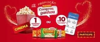 Cadastrar Promoção Sazón Comprou Ganhou Recarga 10 Reais ou Ingresso Cinema
