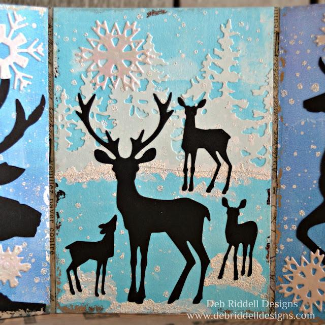 Winter Deer Triptych Panel Two