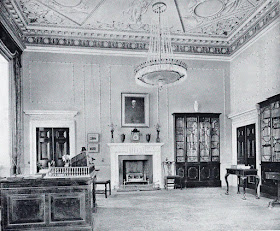 The Library, Hatchlands  from The architecture of Robert and James Adam by AT Bolton (1922)