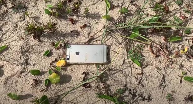 Düşüşten kurtulan telefon