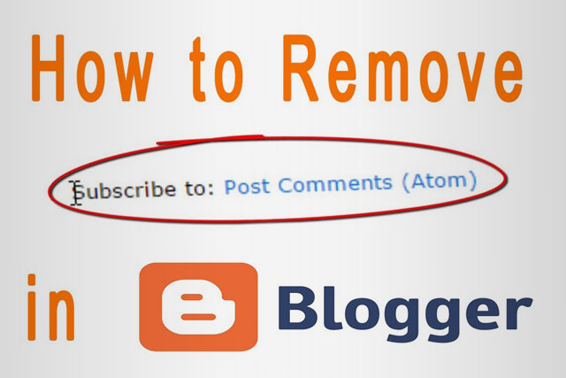 طريقة إزالة الإشتراك في رسائل ATOM من قوالب بلوجر