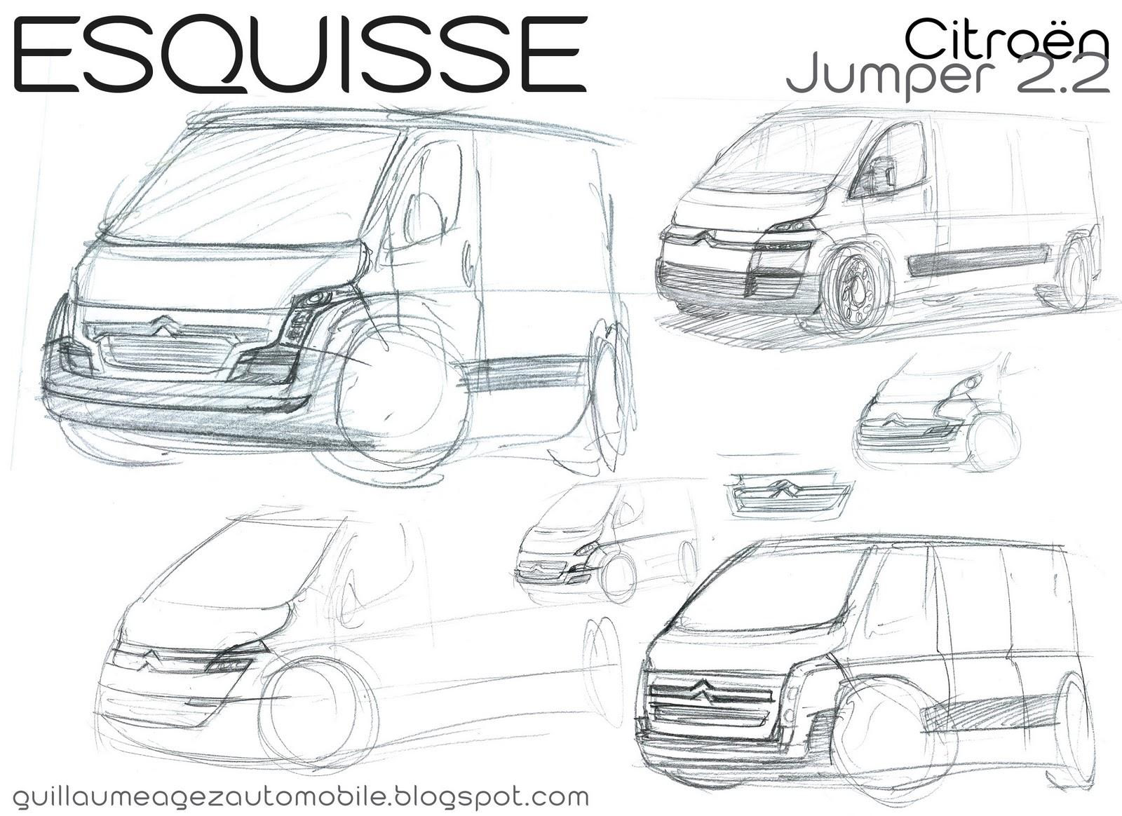 Guillaume AGEZ Automobile: Esquisse: Citroën Jumper 2