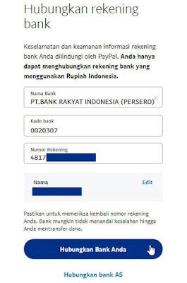 Cara Menghubungkan Rekening Bank Ke PayPal