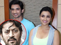 bollywood actress Sushant Singh Rajput, Parineeti Chopra, Irrfan Khan upcoming movie 2017 Takadum, with actor New Upcoming 2016 Meri pyaari Bindu, Parineeti Chopra, Ayushmann Khurrana Next film Poster, pics, actor, budget