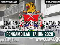 Jawatan Kosong Terkini di Dewan Bandaraya Kuala Lumpur (DBKL)