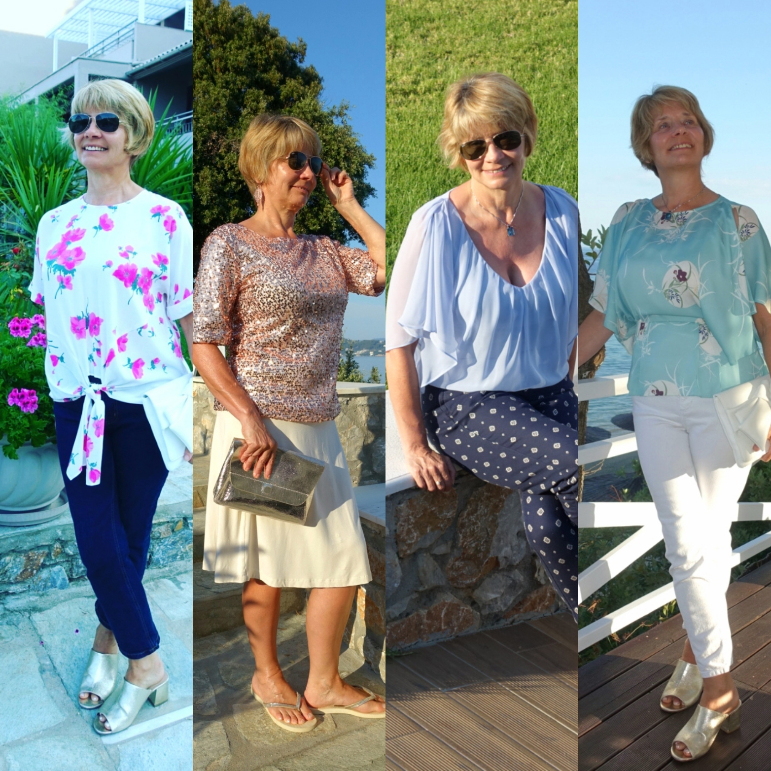 Is This Mutton's Gail Hanlon in outfits worn on holiday in summer 2017