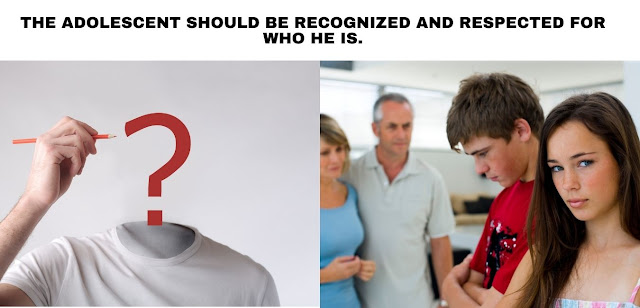 The adolescent should be respected