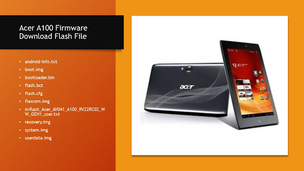 Acer A100 Firmware (Download Flash File)