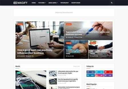 Magify News & Magazine Blogger Template