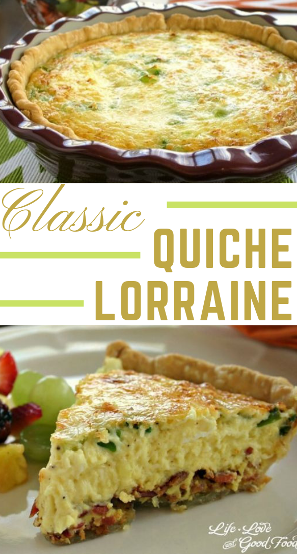Classic Quiche Lorraine #dinnerrecipe #healthy