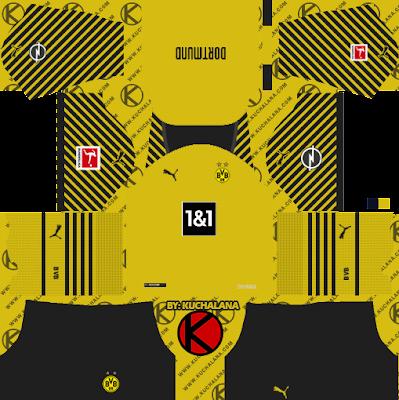 Bộ dụng cụ Borussia Dortmund 2021/22 - Bộ dụng cụ DLS2019