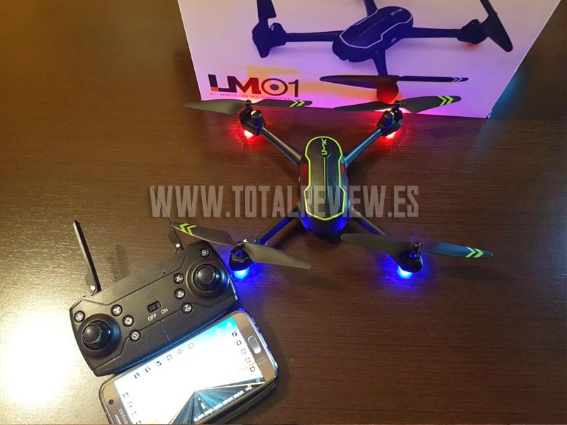 drone con cámara, app móvil
