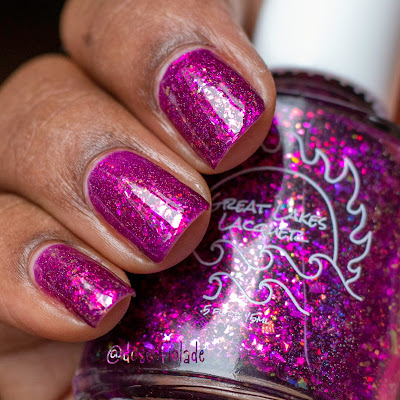 Great Lakes Lacquer Can We Not Right Now? Purple nail polish on dark skin