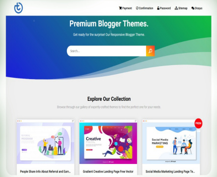Goomsite Green Blogger Template Download