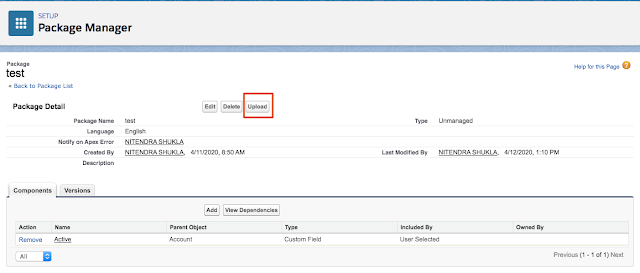 How to upload Managed Package in Salesforce.