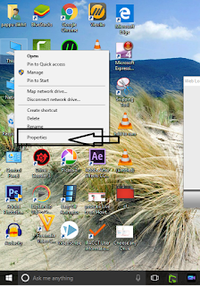 Desk top Screen Shot right Click On This PC