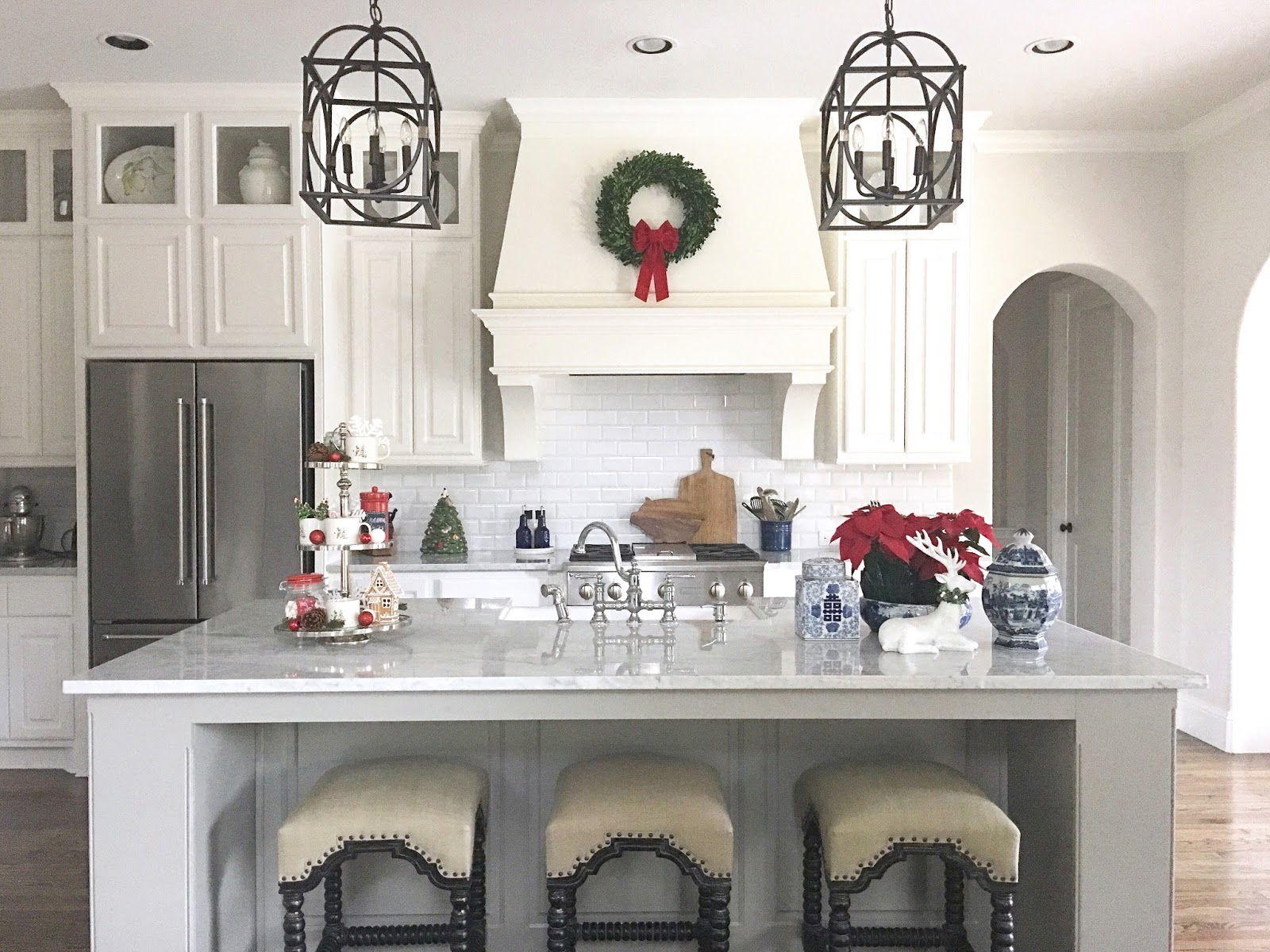 Classic Style Home: Christmas Kitchen and Hot Cocoa Bar