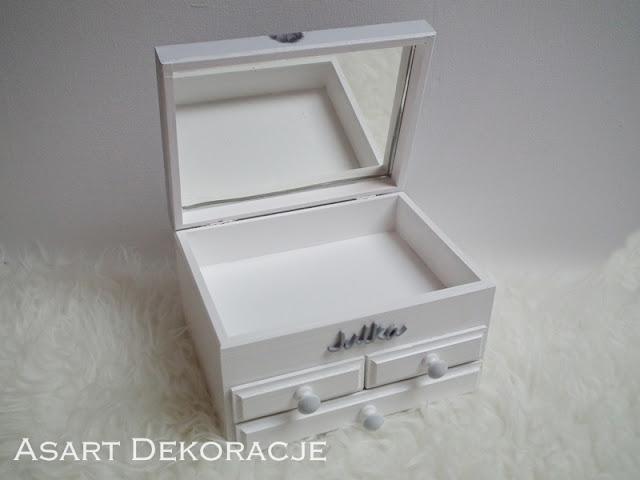 szkatułka decoupage