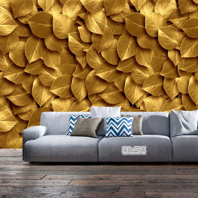 3D effect wallpaper designs for living rooms
