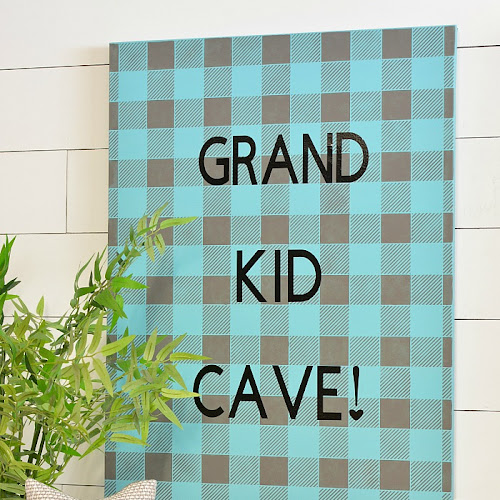 How To Make Cute Buffalo Check Canvas Art With Quote