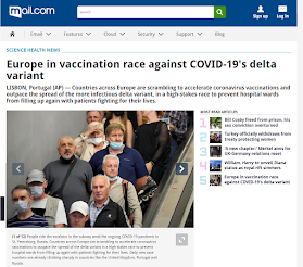 Europe in vaccination race against COVID-19's delta variant. (AP) (image, Screenshot)