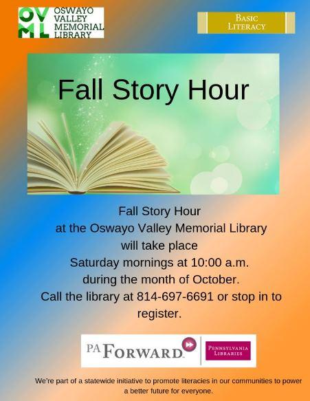 10-12 Fall Story Hour OVML