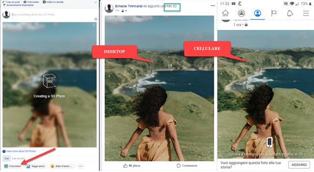 creazione di foto in tre dimensioni su facebook